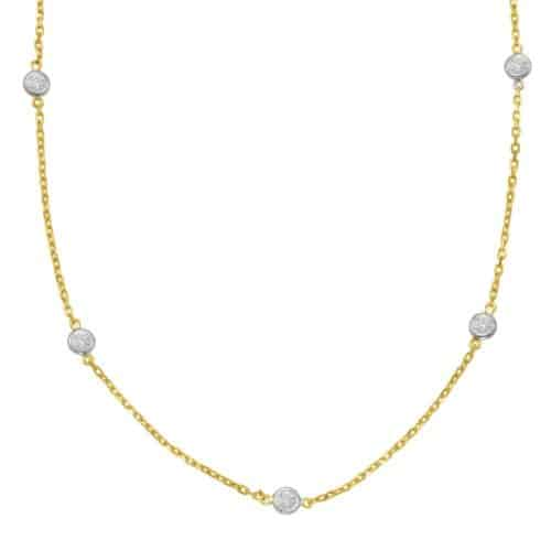 S. Kashi Yelow Gold Diamond By The Yard Necklace (N1077-2.0MYG)