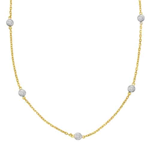 S. Kashi Yellow Gold Diamond By The Yard Necklace (N1077-3.0MYG)