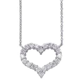 S. Kashi White Gold Diamond Heart Necklace (N1204WG)