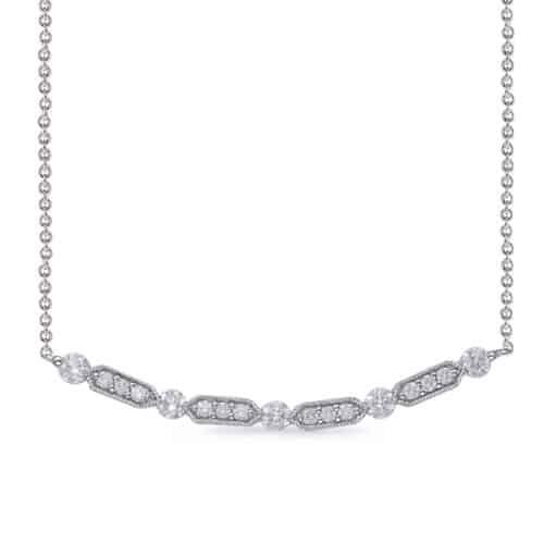 S. Kashi White Gold Diamond Necklace (N1226WG)