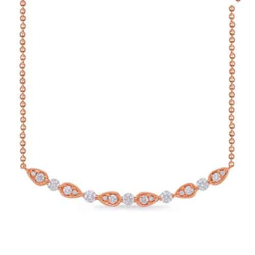S. Kashi Rose Gold Diamond Necklace (N1227RG)
