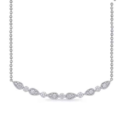 S. Kashi White Gold Diamond Necklace (N1227WG)