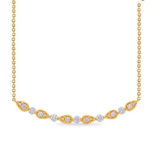 S. Kashi Yellow Gold Diamond Necklace (N1227YG)