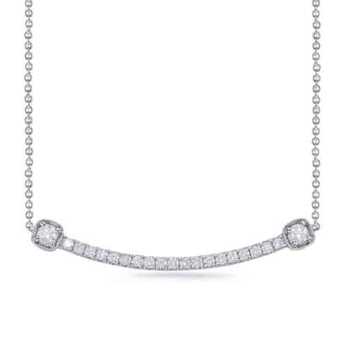 S. Kashi White Gold Diamond Necklace (N1228WG)