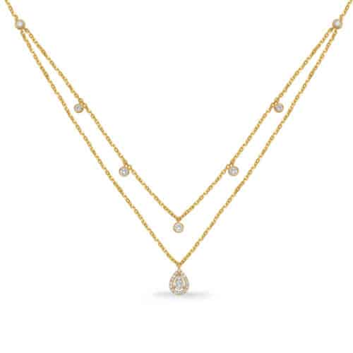 S. Kashi Yellow Gold Diamond Necklace (N1238YG)