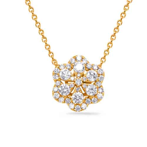 S. Kashi Yellow Gold Diamond Necklace (N1240YG)