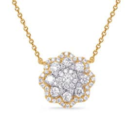 S. Kashi Yellow & White Gold Diamond Necklace (N1244YW)