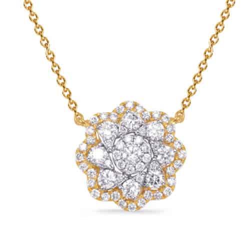 S. Kashi Yellow & White Gold Diamond Necklace (N1244YW)
