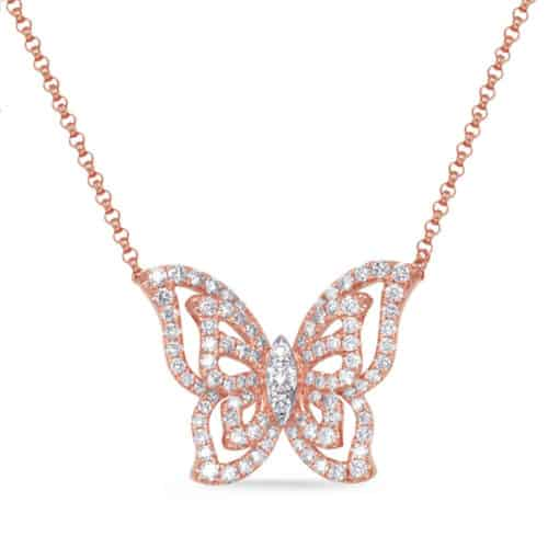 S. Kashi Rose Gold Diamond Necklace (N1245RG)