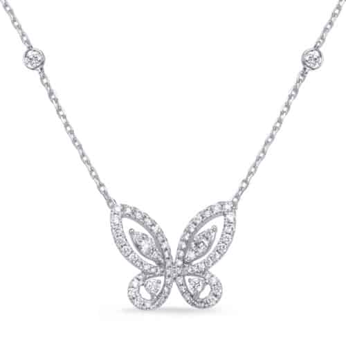 S. Kashi White Gold Diamond Necklace (N1246WG)