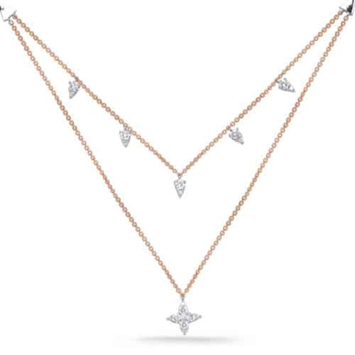 S. Kashi Rose & White Gold Diamond Necklace (N1248RG)