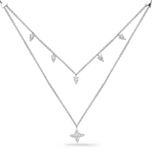 S. Kashi White Gold Diamond Necklace (N1248WG)