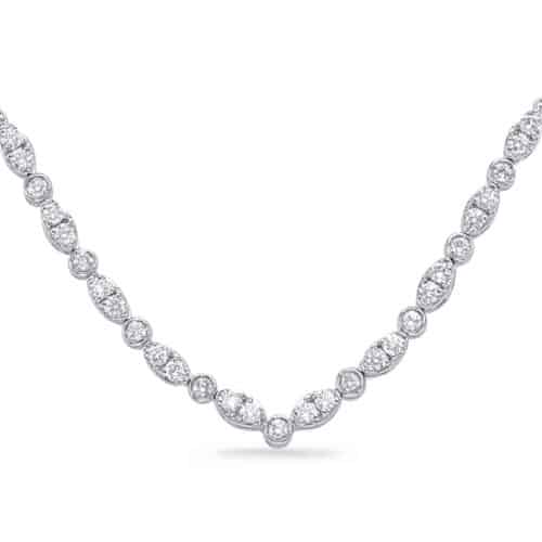 S. Kashi White Gold Diamond Necklace (N1249WG)