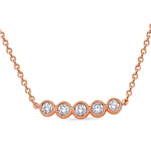 S. Kashi Rose Gold Diamond Necklace (N1250RG)