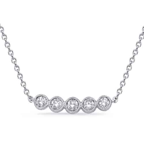 S. Kashi White Gold Diamond Necklace (N1250WG)