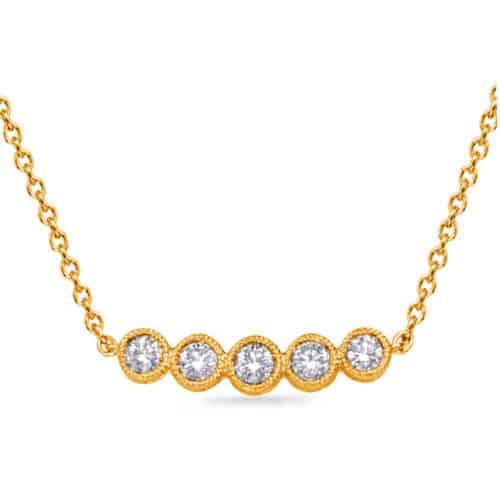 S. Kashi Yellow Gold Diamond Necklace (N1250YG)