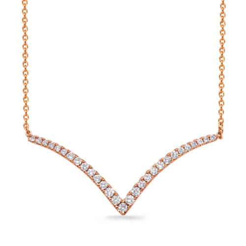 S. Kashi Rose Gold Diamond Necklace (N1252RG)