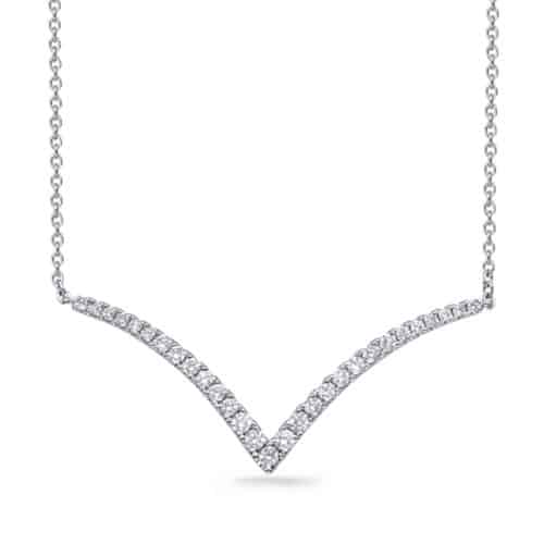 S. Kashi White Gold Diamond Necklace (N1252WG)
