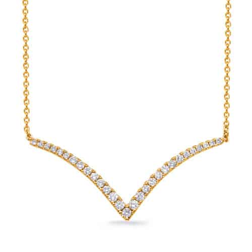 S. Kashi Yellow Gold Diamond Necklace (N1252YG)
