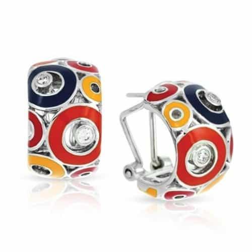 Belle etoile Nova Red Earrings