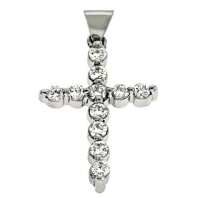 S. Kashi White Gold Diamond Cross (P2680WG)