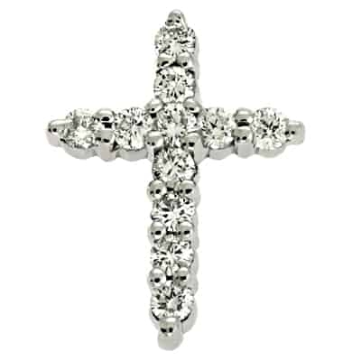 S. Kashi Diamond Cross Pendant (P2739WG)
