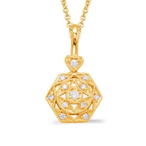 S. Kashi Yellow Gold Diamond Pendant (P3294YG)