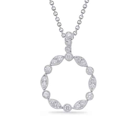S. Kashi White Gold Diamond Pendant (P3308WG)