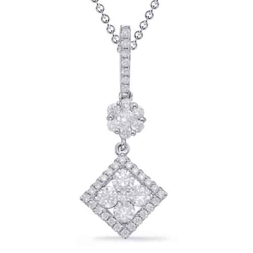 S. Kashi White Gold Diamond Pendant (P3320WG)