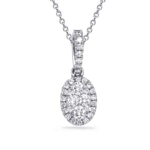 S. Kashi White Gold Diamond Pendant (P3324WG)