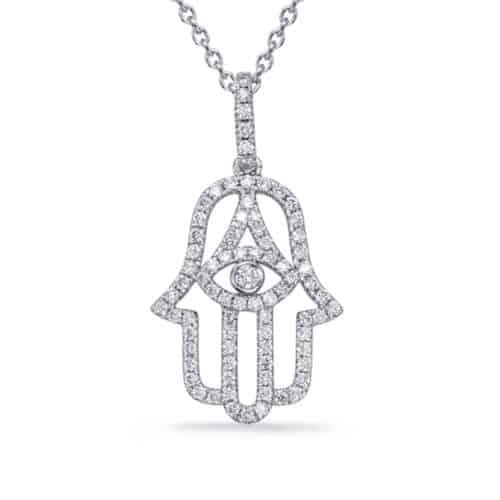 S. Kashi White Gold Diamond Pendant (P3325WG)