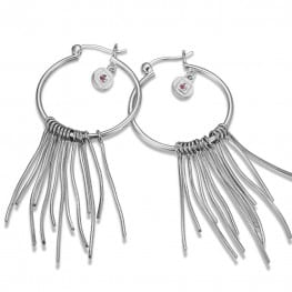 Elle Hoop Earrings With Tassels