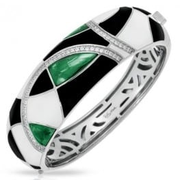 Belle etoile Tango Emerald, Black & White Bangle