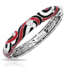 BELLE ETOILE VORTICE RED BANGLE BRACELET