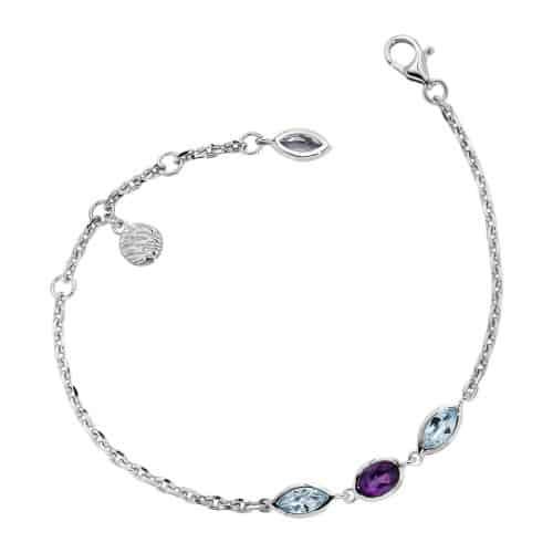 Elle Amethyst and Blue Topaz Bracelet
