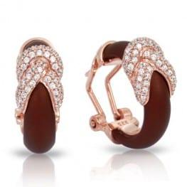 ARIADNE BROWN & ROSE EARRINGS