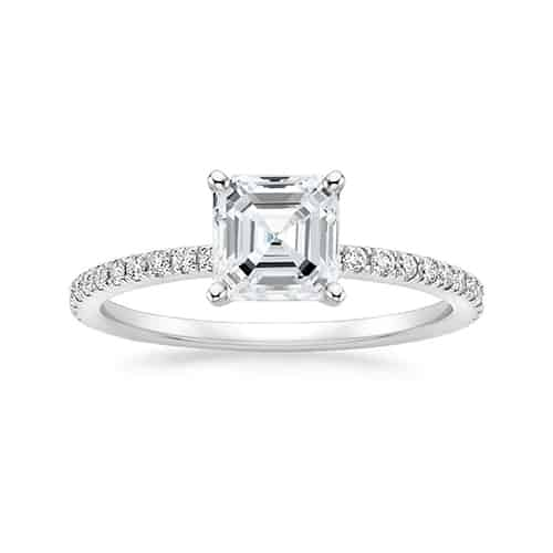 Asscher Cut Diamond Engagement Rings.