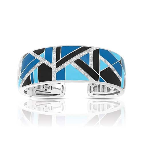 Belle Etoile delano blue and black bangle.