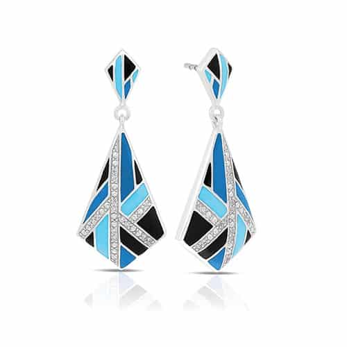 Belle Etoile delano blue and black earrings.