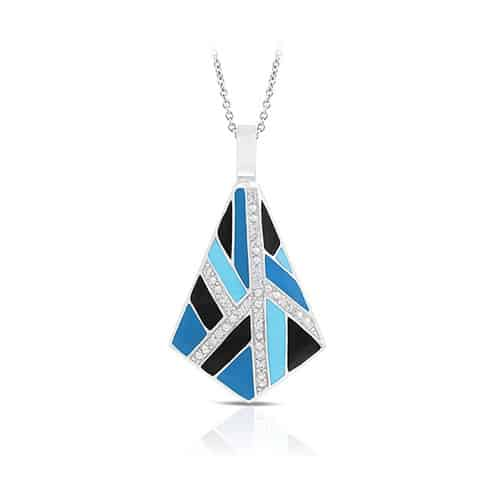 Belle Etoile delano blue and black pendant.