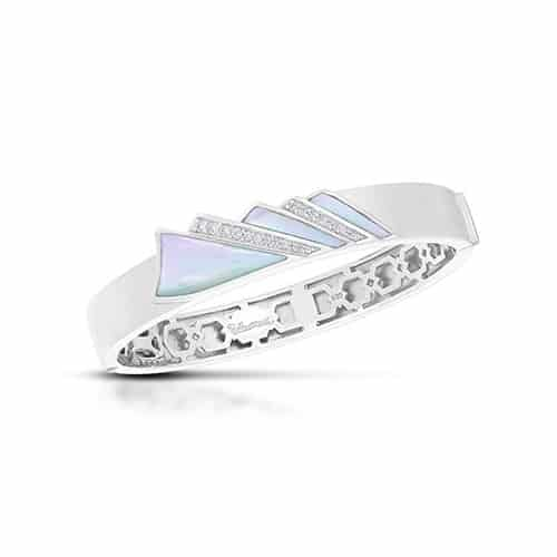 Belle Etoile Empire white Mother-of-Pearl bangle.
