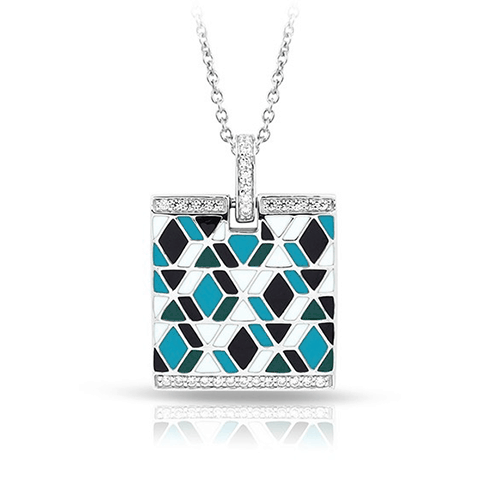 Belle Etoile Forma Collection Blue Pendant Necklace at Michael Herr.