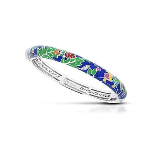 Belle Etoile Ladybug blue and multicolor bangle.