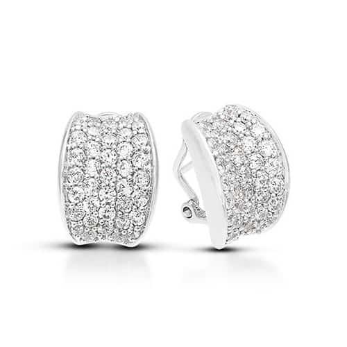 Belle Etoile lucia white earrings.