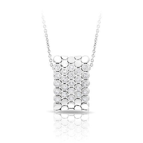 belle etoile shimmer silver pendant