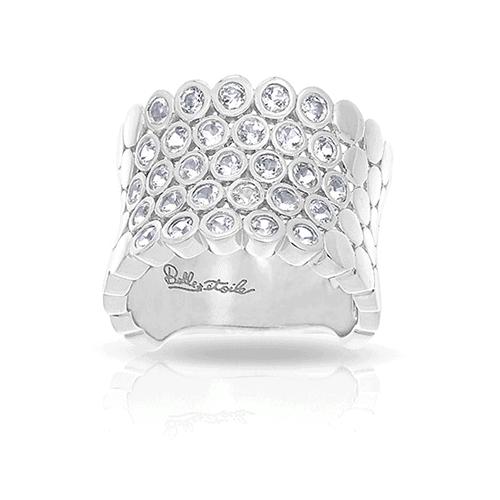 belle etoile shimmer silver ring