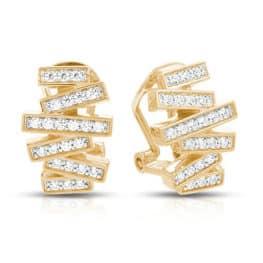 Belle Etoile Yellow Gold Earrings