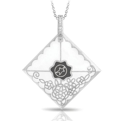 belle etoile love letter pendant necklace