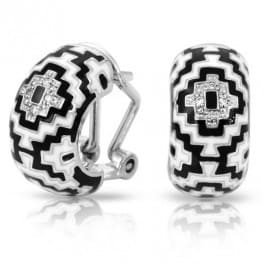 Belle Etoile Aztec Black and White Earrings