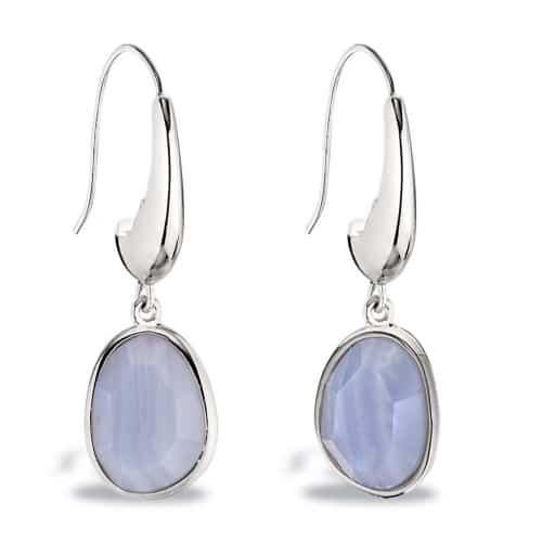 Elle Blue Lace Agate Earrings